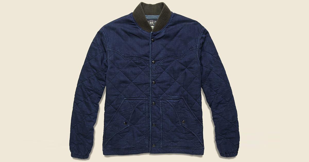 552442b5f6 RRL Indigo Quilted Cotton-Blend Jacket