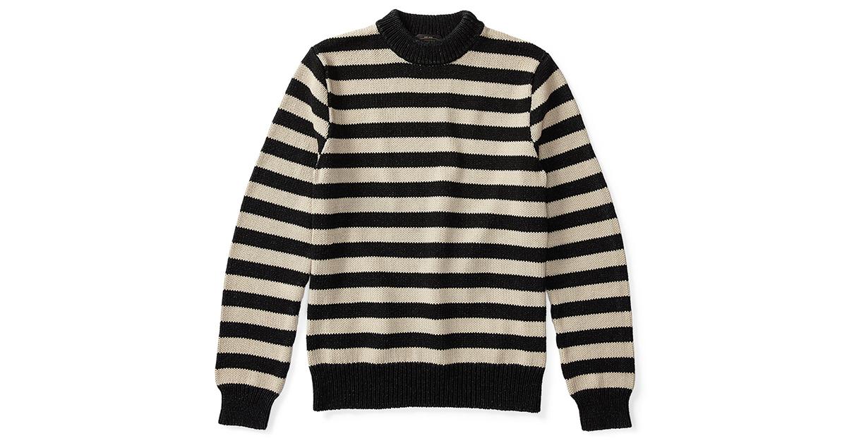 3f43a19f6 RRL Indigo Striped Cotton Sweater