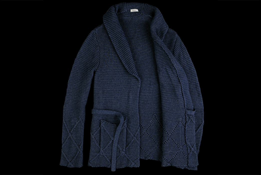 eidos-dark-indigo-sashiko-wrap-cardigan-front-open