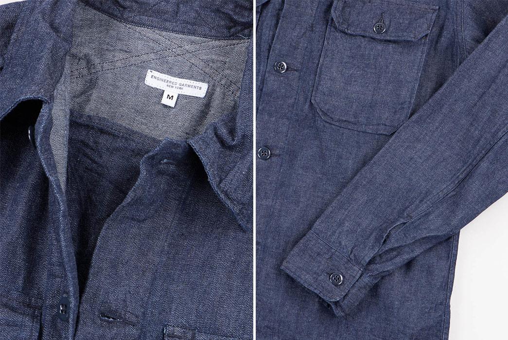 engineered-garments-8oz-cone-denim-field-shirt-open-and-sleeve