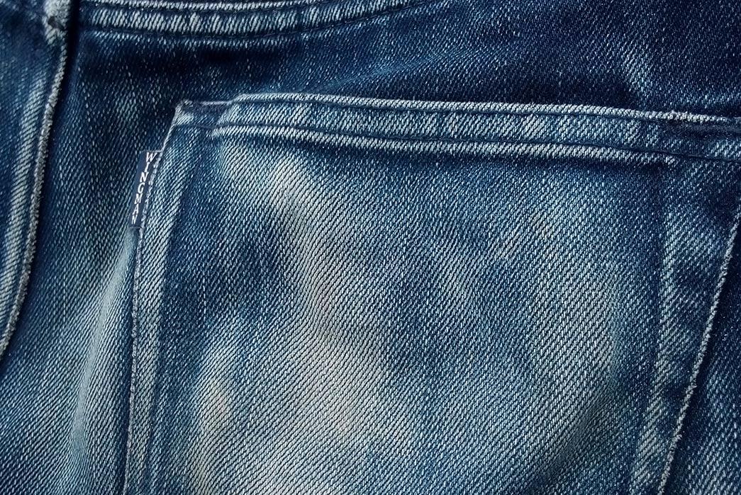Fade-Friday---Wingman-Denim-Indigo-x-Indigo-(11-Months,-3-Washes,-3-Soaks)-back-pocket-and-small-label