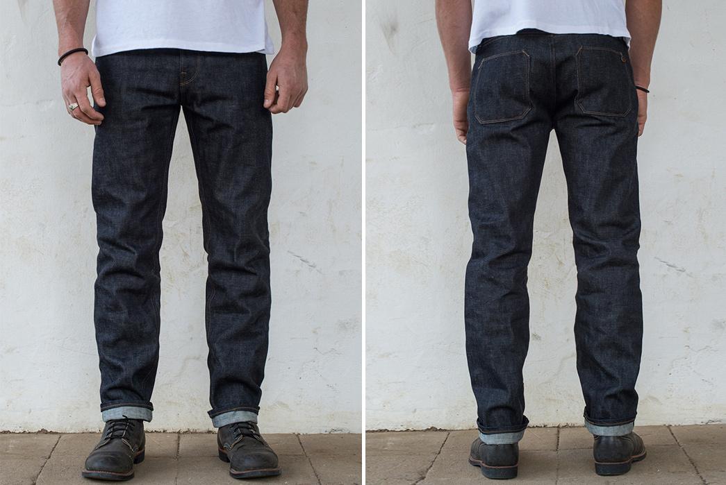 freenote-cloth-yoshiwa-mills-13oz-broken-twill-selvedge-denim-jeans-front-back