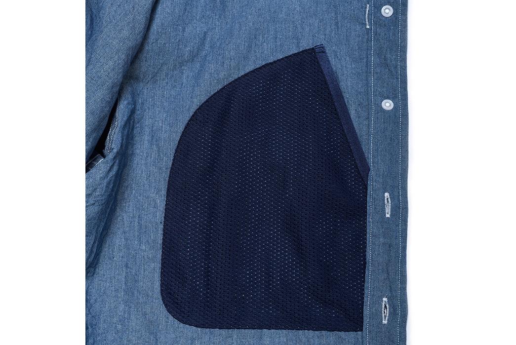 Goldwin's Indigo GO41703 Utility Short Sleeve Shirt is Made of Indigo and Paper