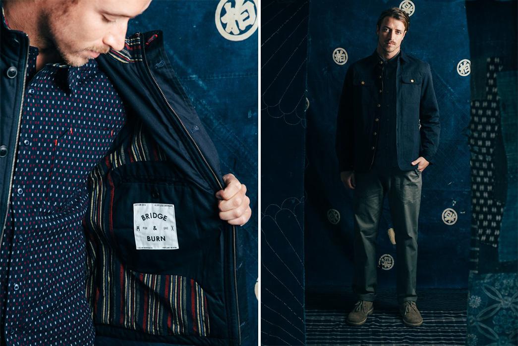kiriko-x-bridge-burn-release-indigo-laden-capsule-collection-male-model-blue-jacket-inside-label