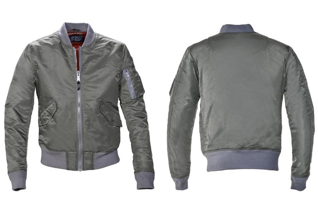 MA-1-Style-Bomber-Jackets---Five-Plus-One-3)-Schott-MA-1-Jacket-in-Khaki