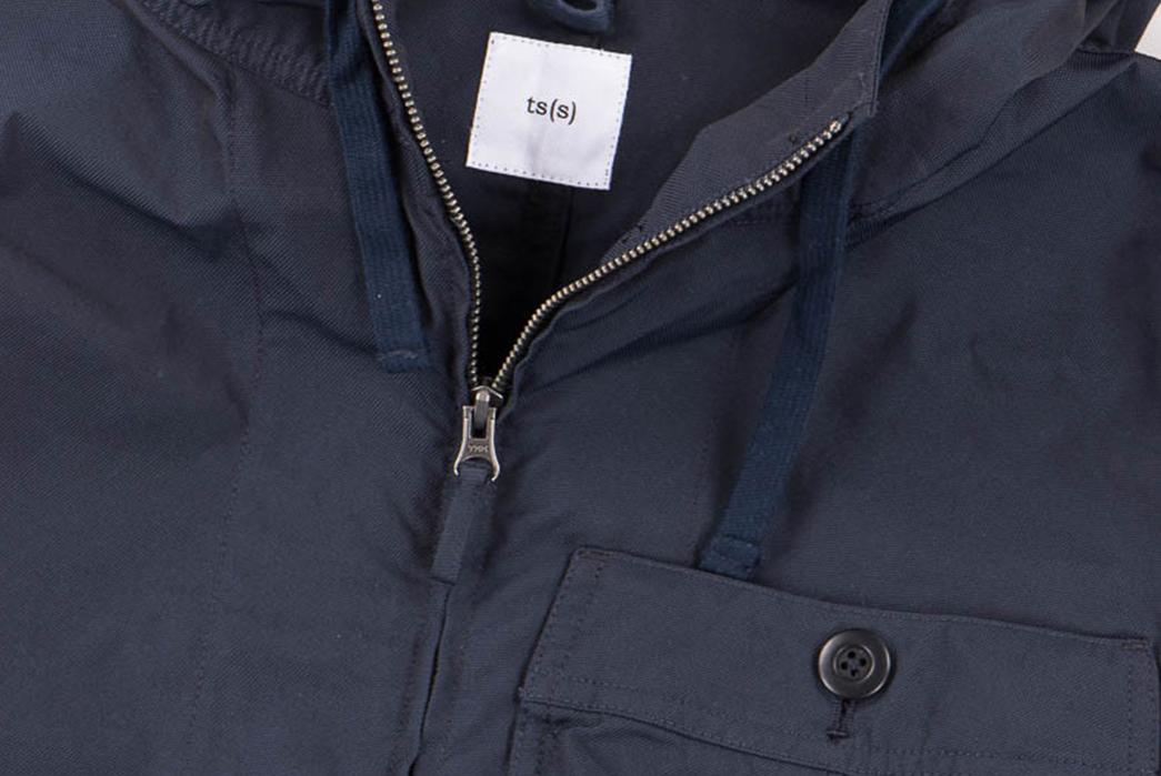 tss-navy-high-count-poly-oxford-gathered-round-pocket-zip-up-parka-zipper
