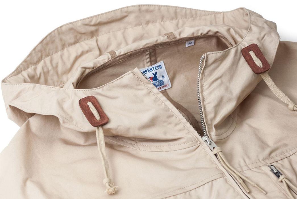 Arpenteur-Mission-II-Waterproof-Gabardine-Parka-khkai-front-collar