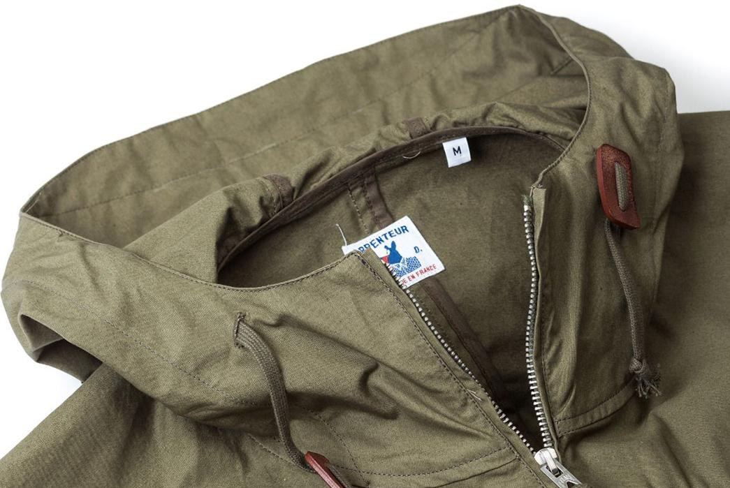 Arpenteur-Mission-II-Waterproof-Gabardine-Parka-olive-front-collar