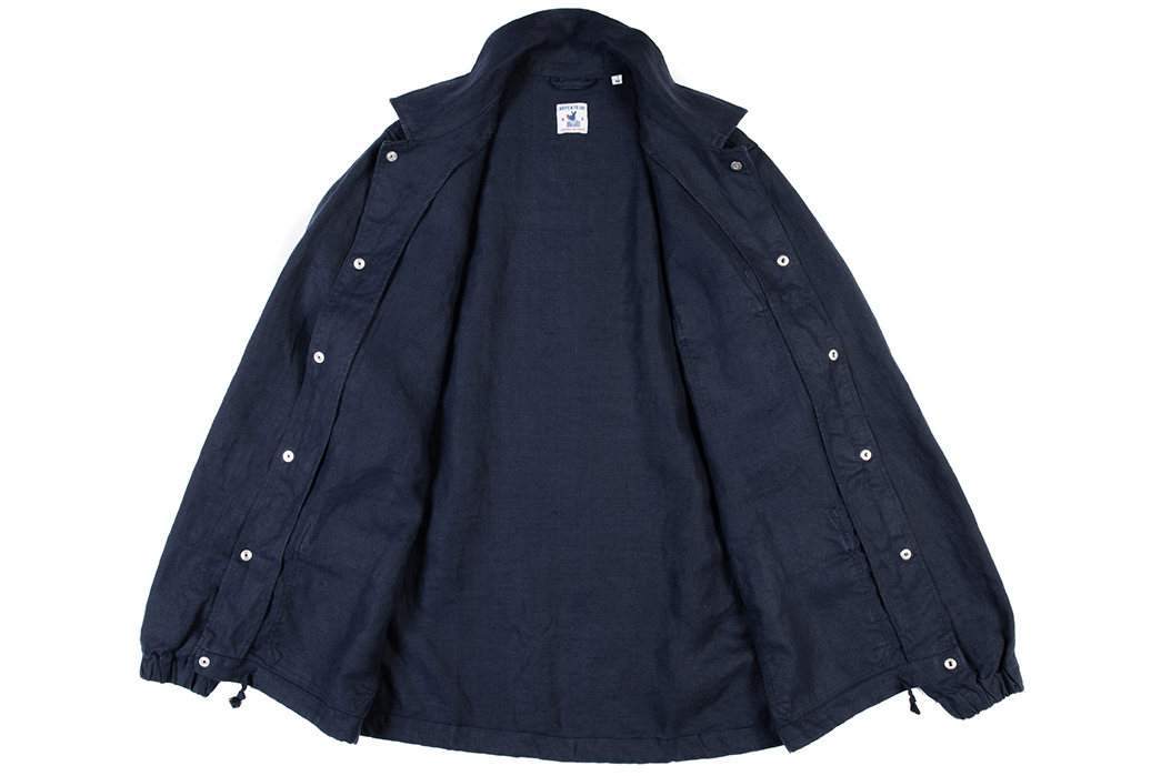 Arpenteur's-Stade-Jacket-Mixes-French-Workwear-With-a-Coach's-Jacket-front-open