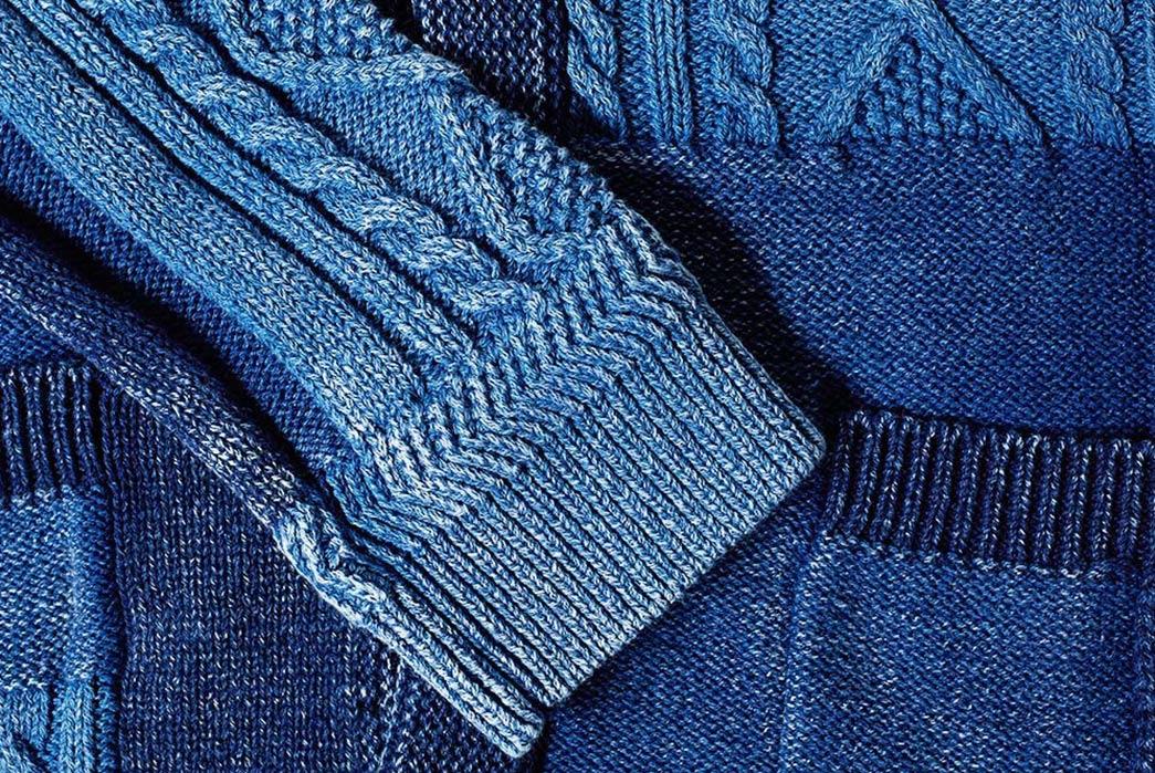 Beams-Plus-Indigo-Patchwork-Cardigan-sleeve