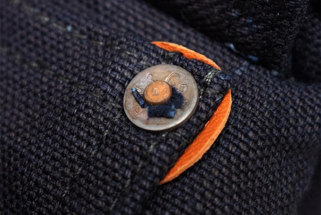Burgus-Plus-13.5oz.-Indigo-Duck-Type-I-Jacket-detalied