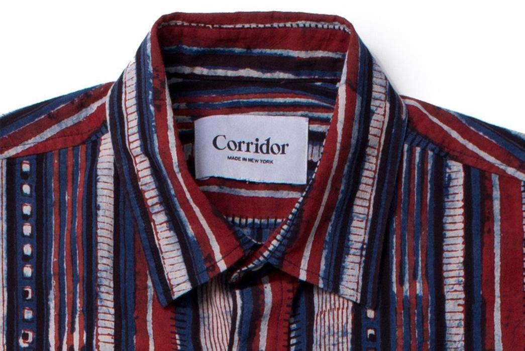 Corridor-NYC-Handblock-Thick-Stripe-Shirt-front-collar