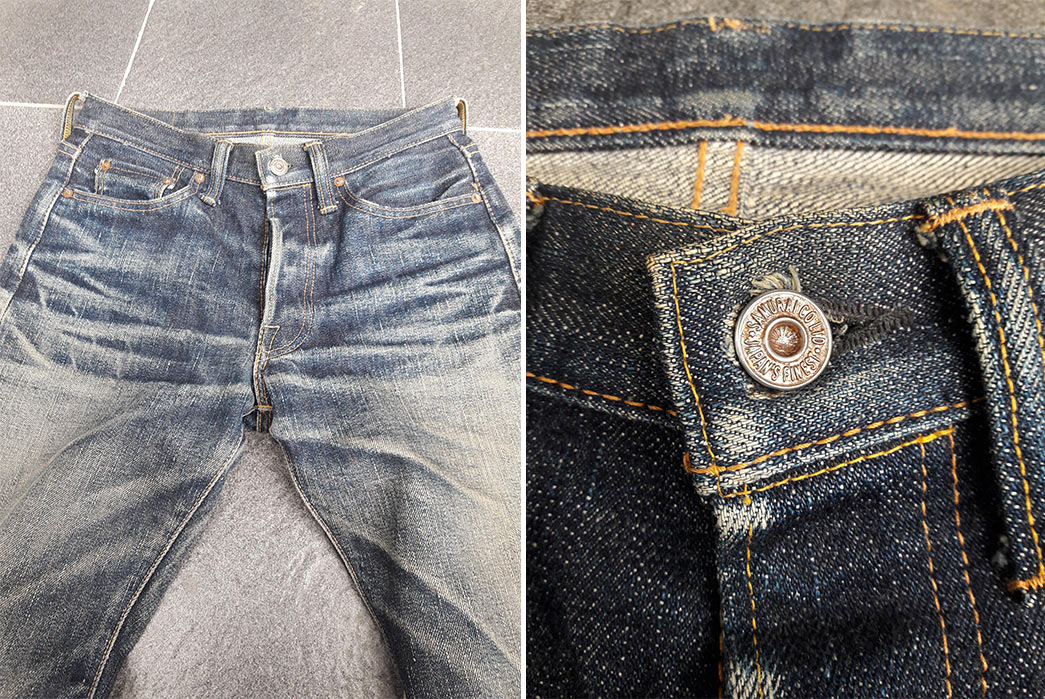 Fade-Friday---Samurai-S710XX-(1.5-Years,-1-Wash,-1-Soak)-front-and-frton-detailed