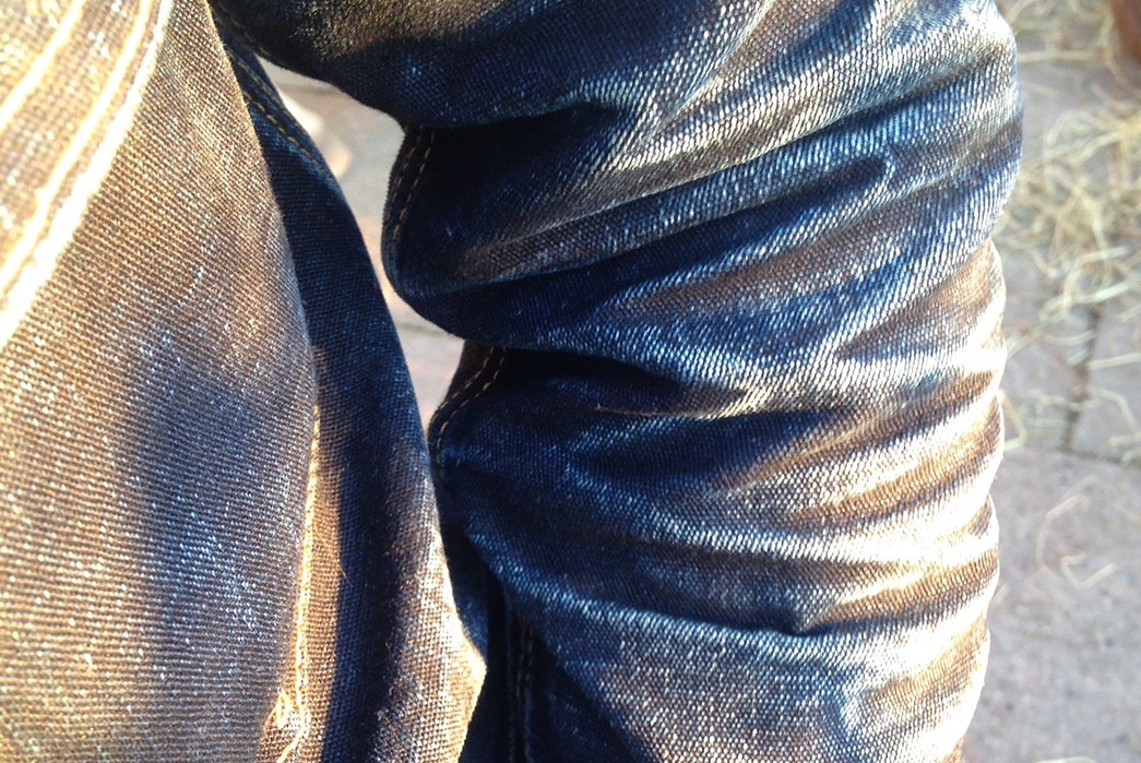 Fade-of-the-Day---Iron-Heart-IHxVS-T1-DD-jacket-(1.5-Years,-3-Washes,-2-Soaks)-sleeve