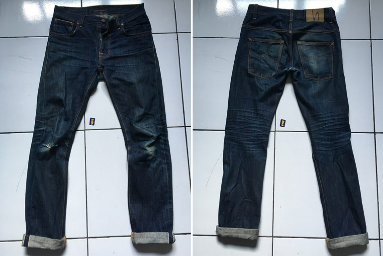 Fade-of-the-Day---Nudie-Thin-Finn-Dry-Selvedge-(2-Years,-2-Soaks)-front-back</a>