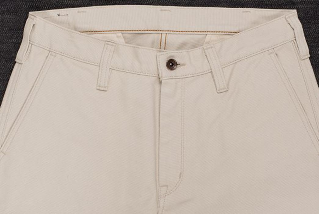 Iron-Heart-IH-816-IVO-Ivory-17oz.-Duck-Work-Pants-front-top