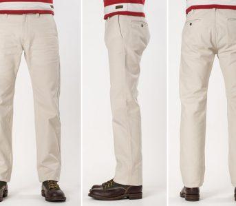 Iron-Heart-IH-816-IVO-Ivory-17oz.-Duck-Work-Pants-model-front-side-back