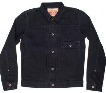 Iron-Heart-IHxPxT1-Black-Overdye-14oz.-Selvedge-Denim-Type-I-Jacket-front