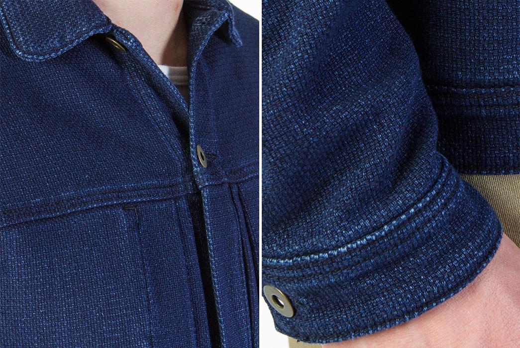 Livid-Jeans-Joshua-Japan-Indigo-Dobby-Jacket-model-front-detalied-and-sleeve