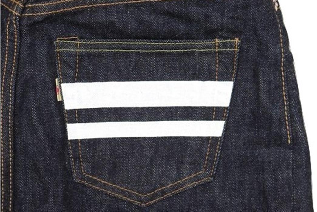 Momotaro-15.7oz.-GTB-Selvedge-Denim-Skirt-back-pocket