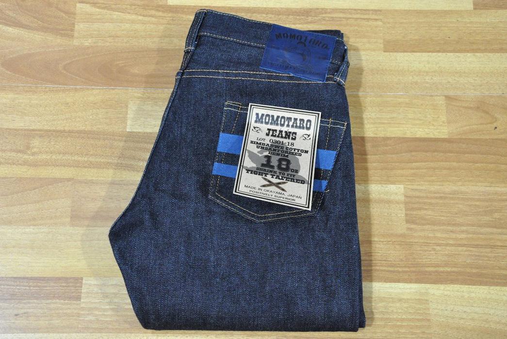 Momotaro-x-Corlection-18oz.-0301-18VSP-Selvedge-Jeans-folded