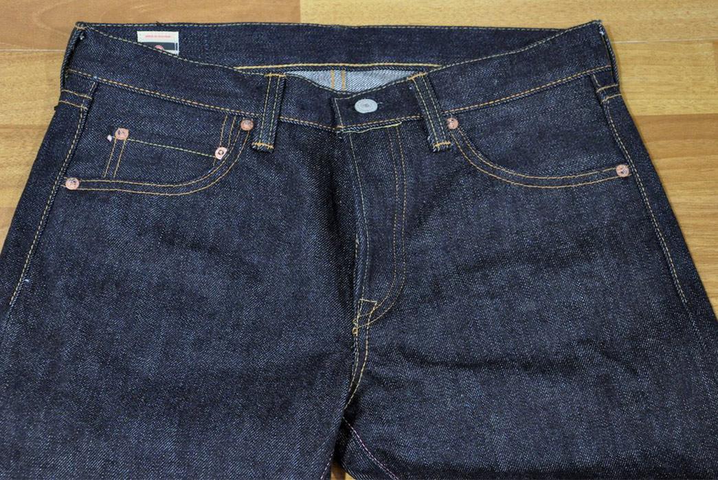 Momotaro-x-Corlection-18oz.-0301-18VSP-Selvedge-Jeans-front-top