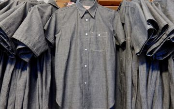 Roy-Charcoal-BBQ-Shirt-in-Japanese-Selvedge-Chambray-front