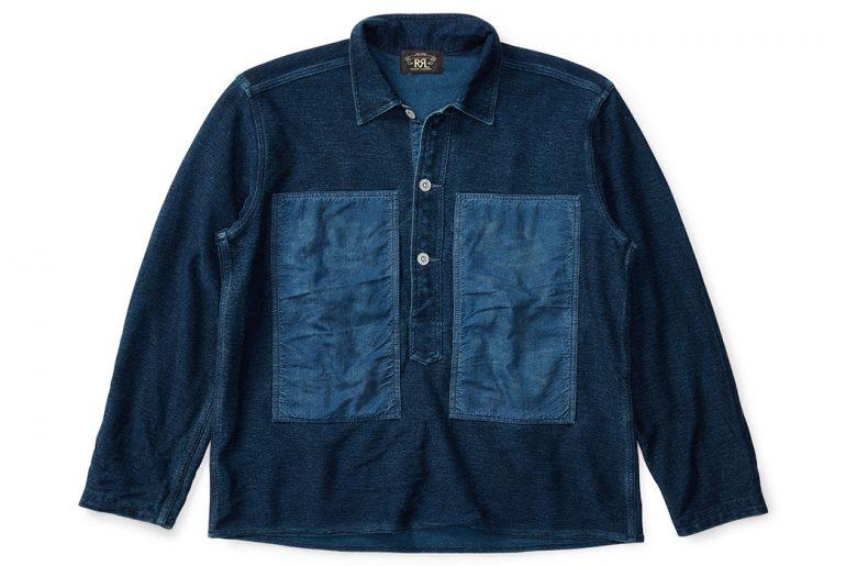 RRL-Indigo-Knit-Cotton-Workshirt-front