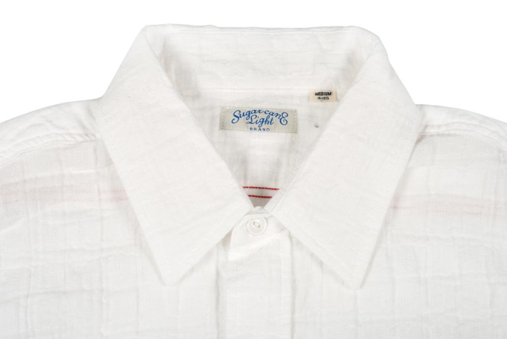 Sugar-Cane-Light-3of4-Sleeve-Gauze-Workshirt-front-collar