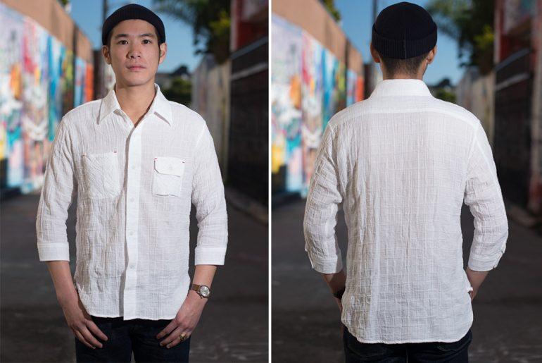 Sugar-Cane-Light-3of4-Sleeve-Gauze-Workshirt-model-front-back