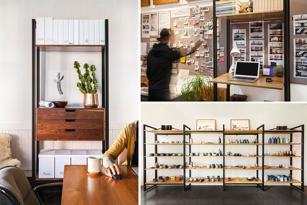 Tanner-Goods-Introduces-Their-Modular-Shelving-System-table-laptop