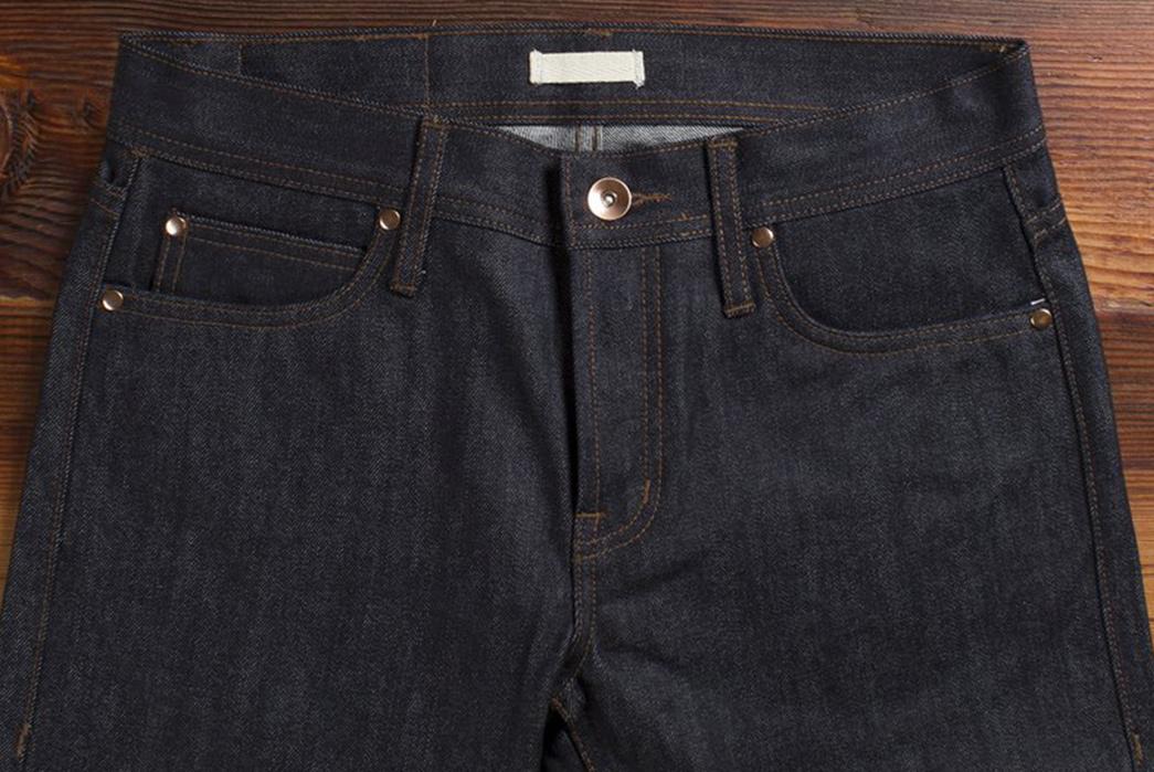 Unbranded UB401 Tight Fit Raw Denim Jeans