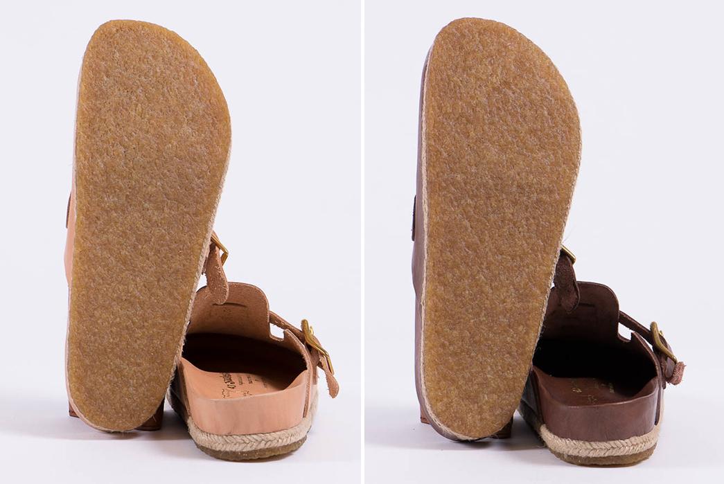 Yuketen's-Take-on-the-Boston-Sandal-natural-and-brown-pair-bottom