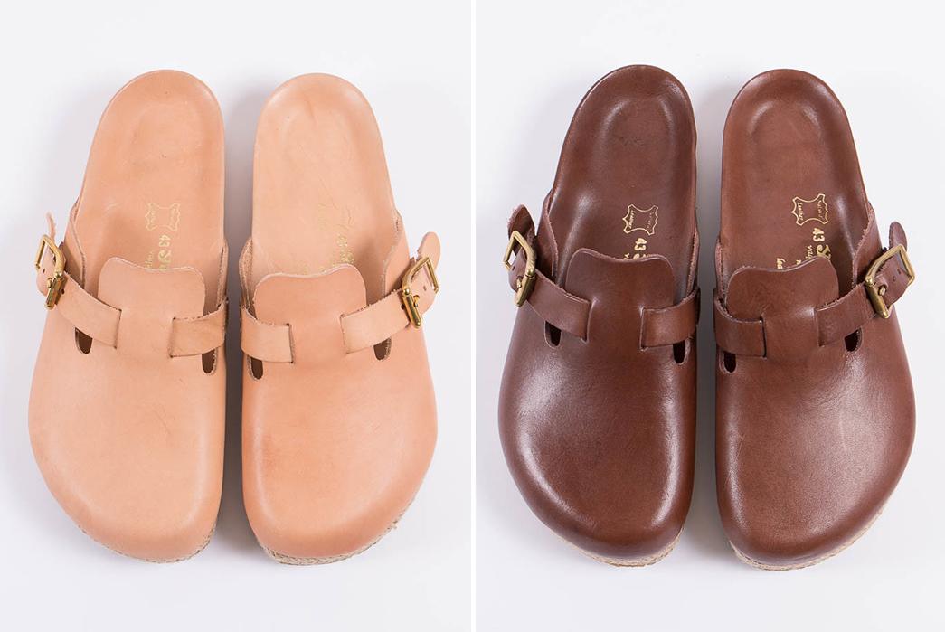 Yuketen's-Take-on-the-Boston-Sandal-natural-and-brown-pair-front