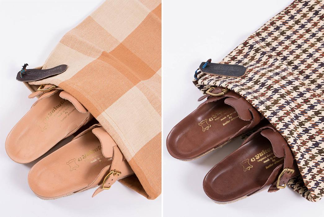Yuketen's-Take-on-the-Boston-Sandal-natural-and-brown-pair-in-bag