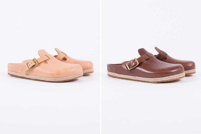 Yuketen's-Take-on-the-Boston-Sandal-natural-and-brown-pair-side