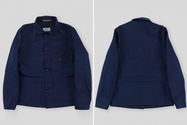 1st-PAT-RN-Indigo-Broken-Twill-Laboratorio-Jacket-front-back