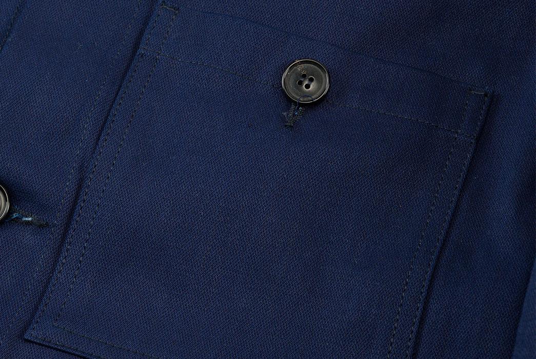 1st-PAT-RN-Indigo-Broken-Twill-Laboratorio-Jacket-front-pocket