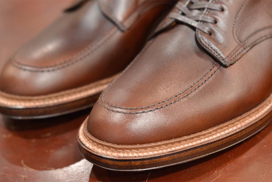 Alden-x-Leather-Soul-Brown-Chromexcel-Ultimate-Stomper-front-side-detalied