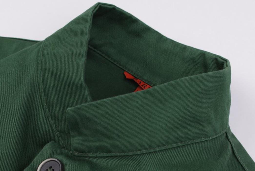Barena-Overshirt-Dogan-Verde-front-collar-angle
