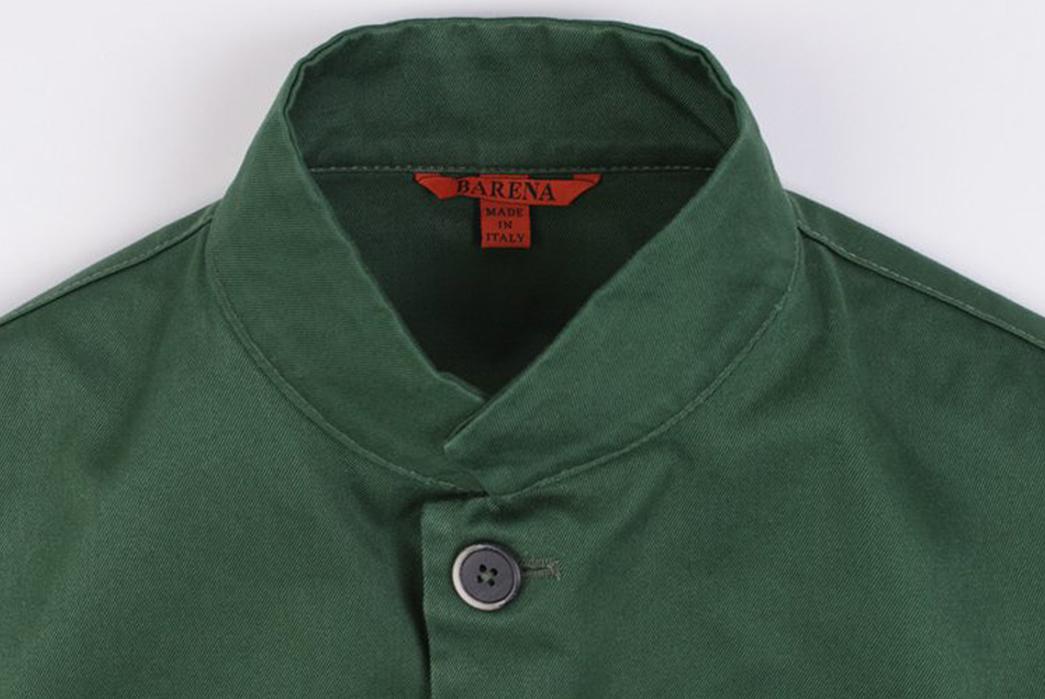 Barena-Overshirt-Dogan-Verde-front-collar