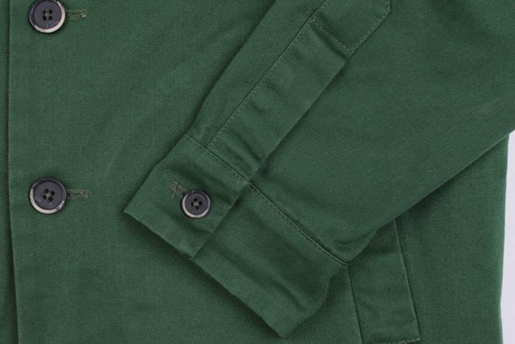 Barena-Overshirt-Dogan-Verde-sleeve