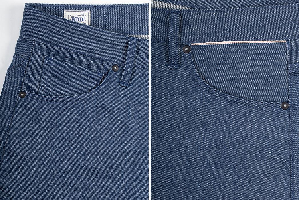 Benzak-Denim-Developers-B-01-Slim-12oz.-Steel-Blue-Selvedge-front-pockets