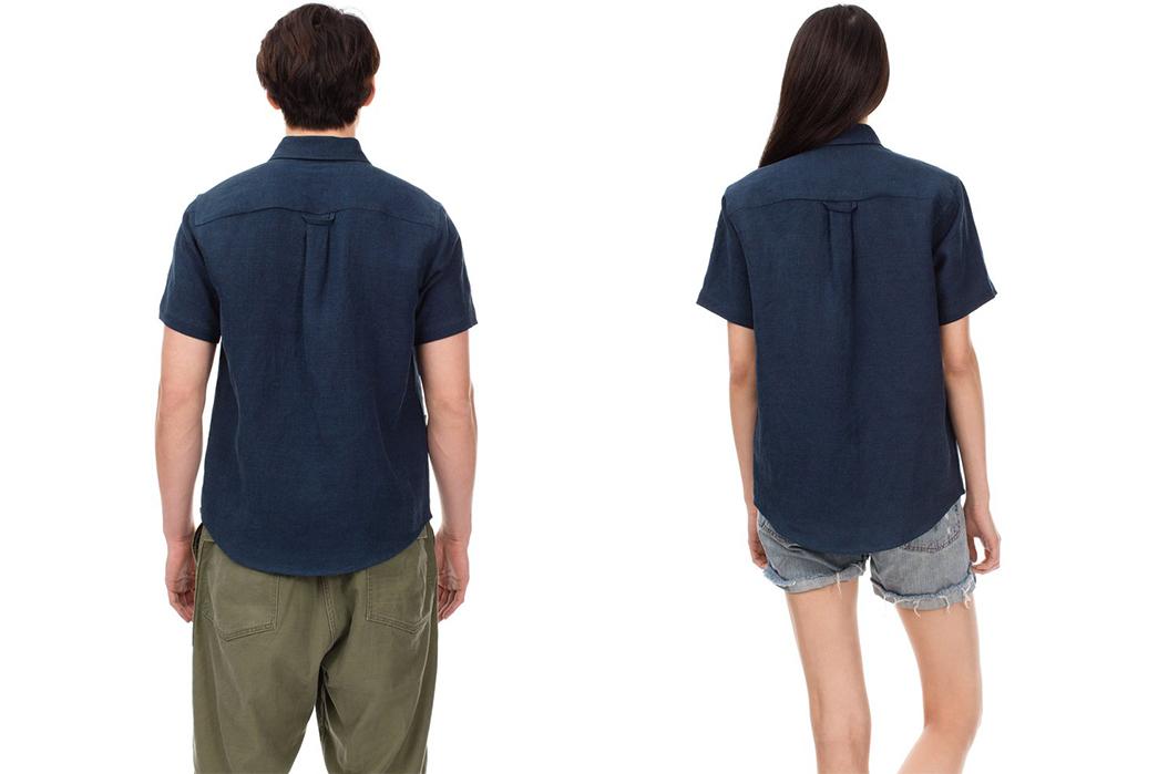 Blluemade's-Soft-Pocket-Shirts-Simplify-the-Traditional-Guayabera-man-and-women-back