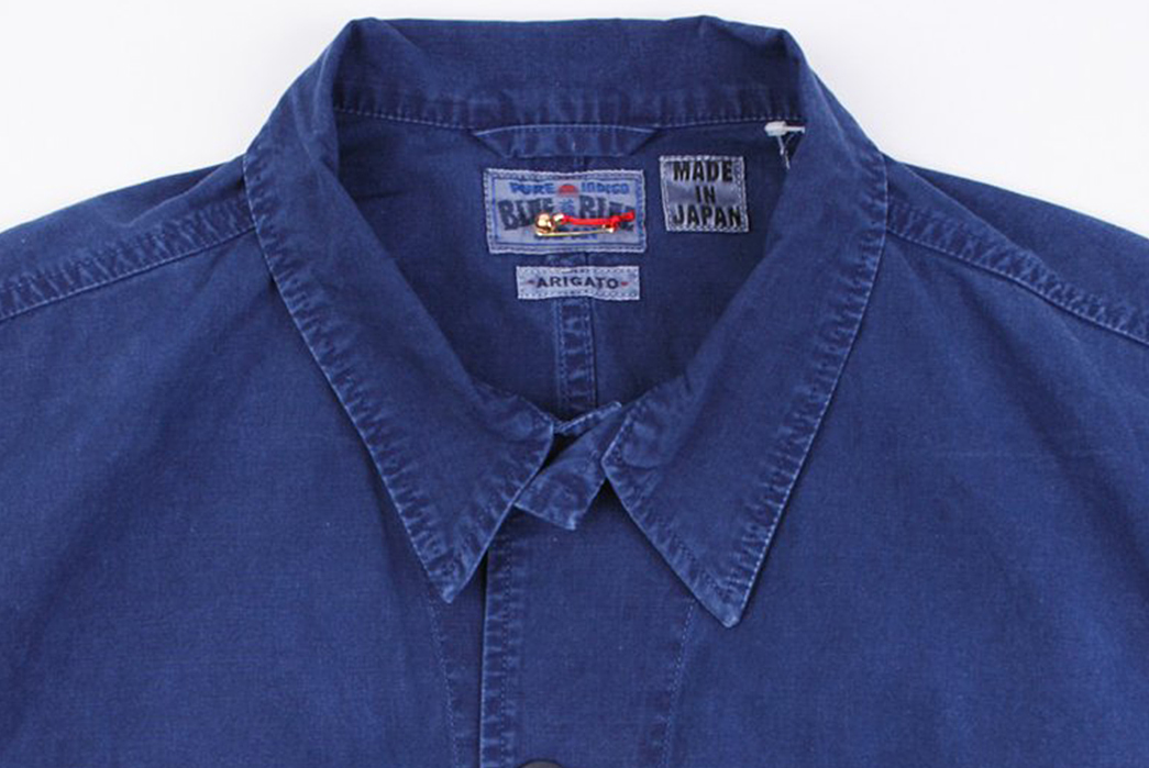 Blue-Blue-Japan-Indigo-Hand-Dyed-Cotton-Poplin-Four-Pocket-Shirt-Jacket-front-collar