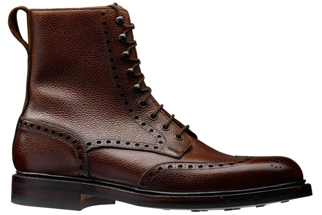 Embossed-Wingtip-Boots---Five-Plus-One-3)-Crockett-&-Jones-Islay-Boot-in-Pebbled-Dark-Brown