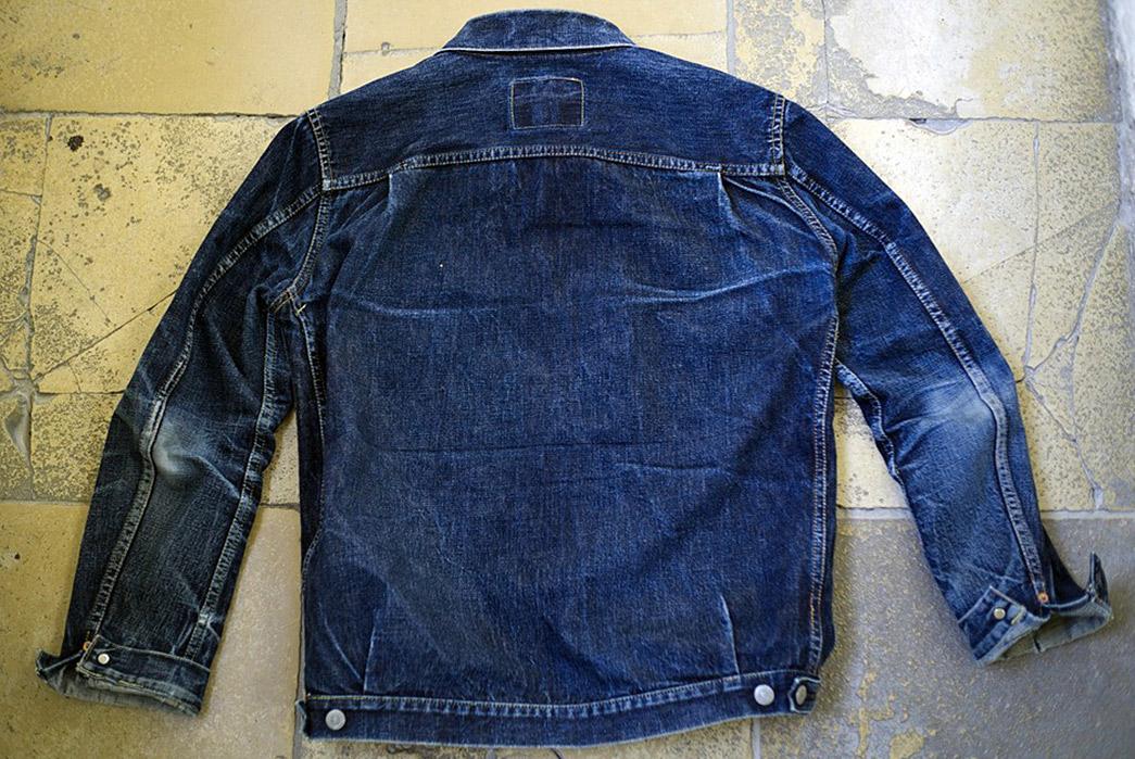 Fade-Friday---TCB-'50s-Type-II-Jacket-(3.5-Years,-12-Washes,-1-Soak)-back