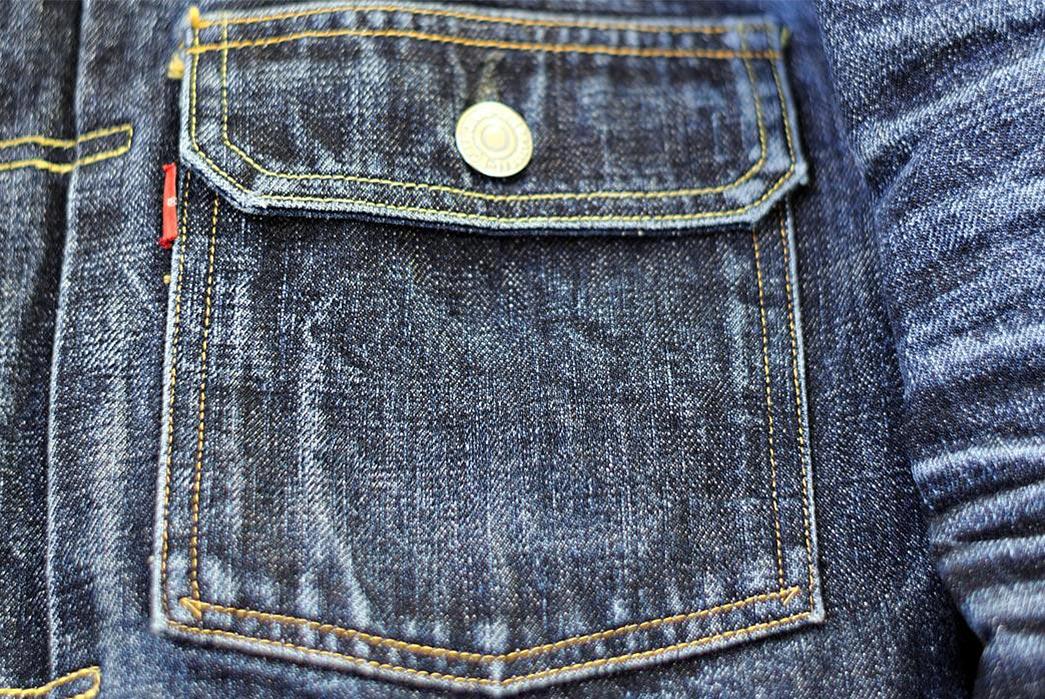 Fade-Friday---TCB-'50s-Type-II-Jacket-(3.5-Years,-12-Washes,-1-Soak)-front-pocket