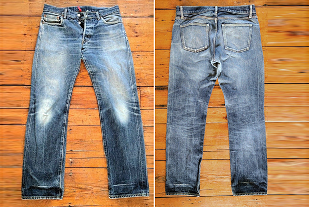 Fade-of-the-Day---Uniqlo-MIJ-Regular-Straight-(4-Years,-Unknown-Washes)-front-back
