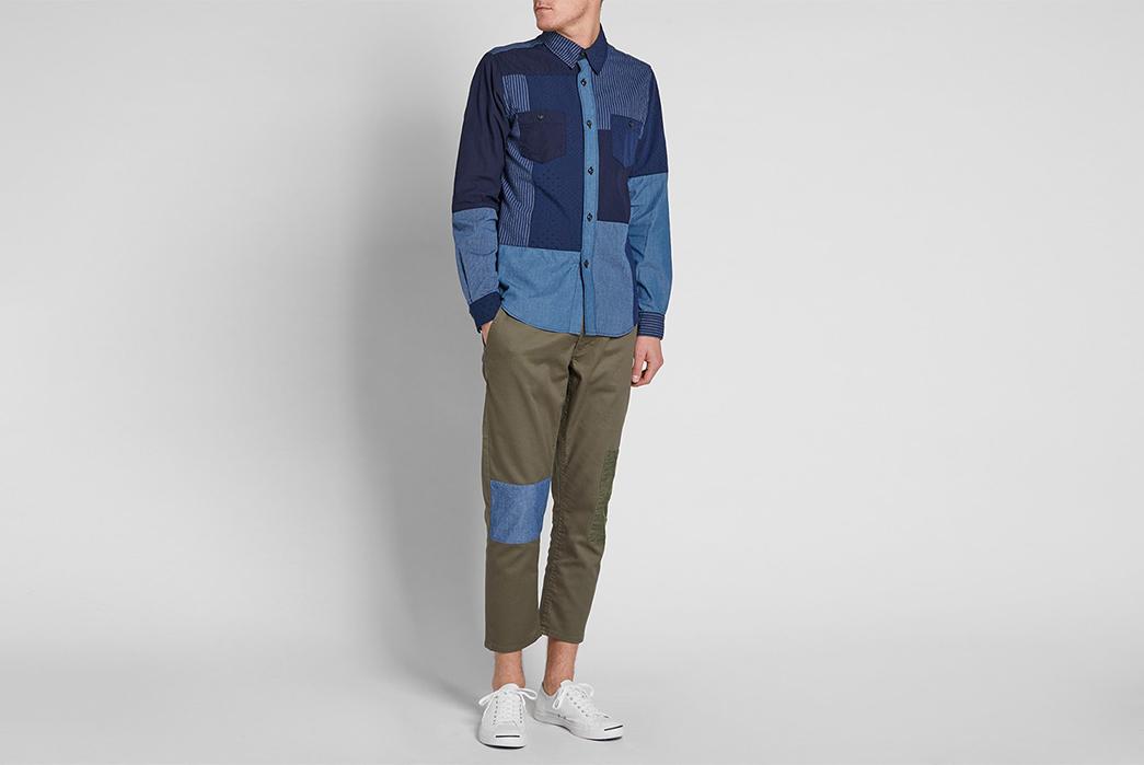 FDMTL-Boro-Patchwork-Shirt-full-model-front